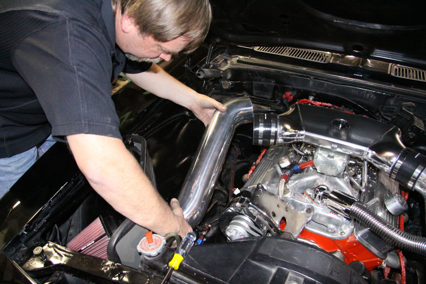 installing a spectre profab cold air intake on a camaro street machine