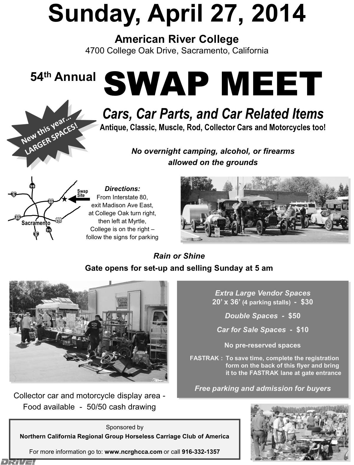 Swap Meet Flyer Cericomunicaaslcom - Sacramento car show and swap meet